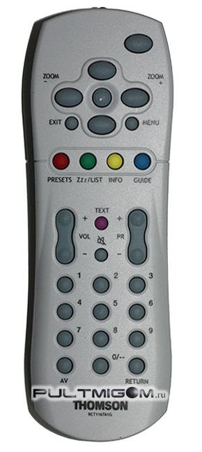 Оригинальный пульт THOMSON RCT116TA1G.  Подходит к следующим моделям устройств. телевизор THOMSON 29DM400KG.